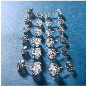 Jewelry - 18k white gold plated earrings